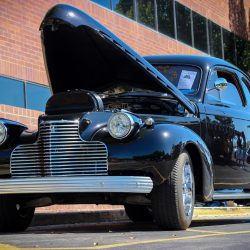 Customized black 19340 Chevy Coupe