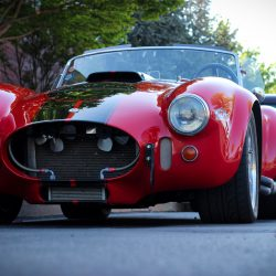 Customized red 1967 Shelby Cobra