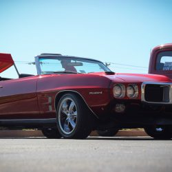 Customized red 1969 Pontiac Firebird