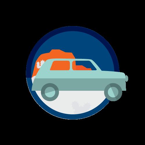 TFCU Auto Empowered Road Icon