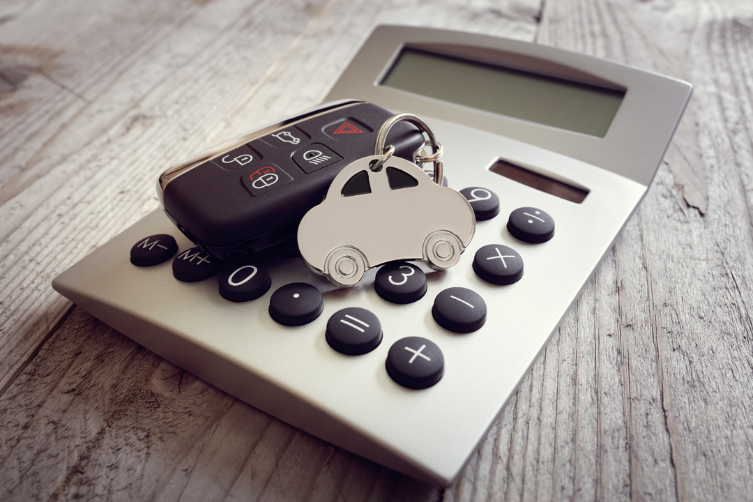 Calculator and Car Keys