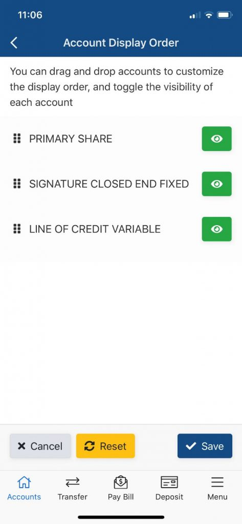 Customize Accounts View 2