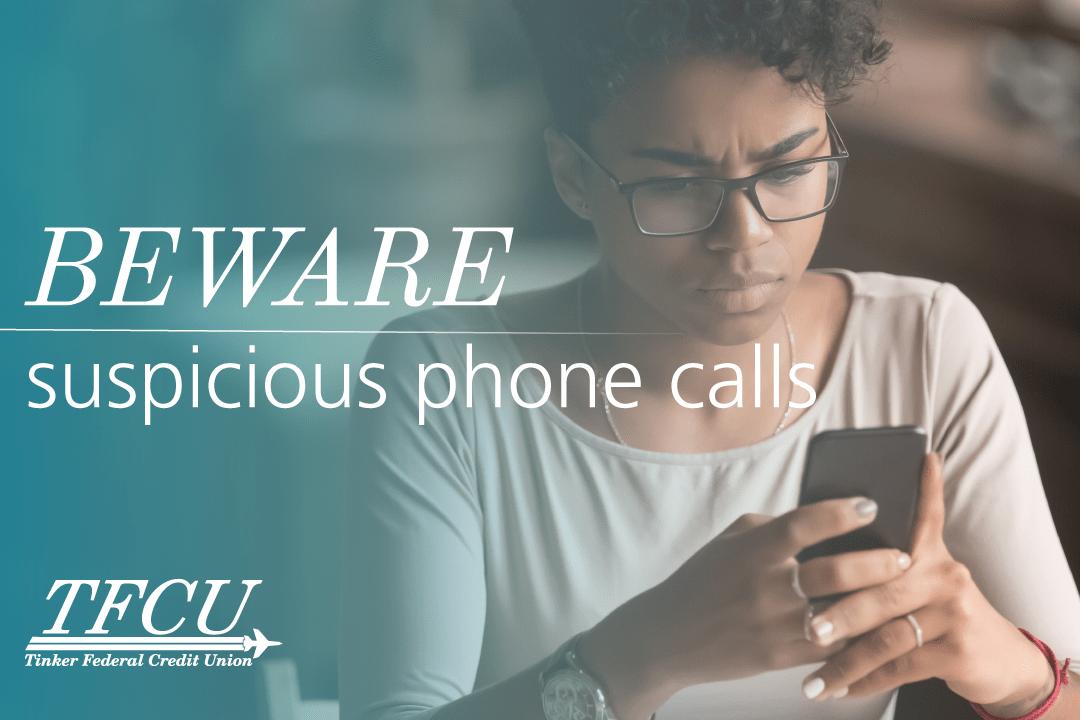 Bewwar suspicious phone calls