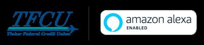 Tinker Federal Credit Union and Amazon Alexa Logos