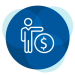 Person with money icon