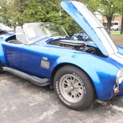 Classic Ford Cobra in blue at the 2019 TFCU Miracle Car Show