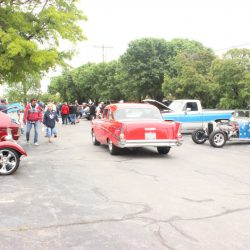 Cars parked at the 2019 TFCU Miracle Car Show
