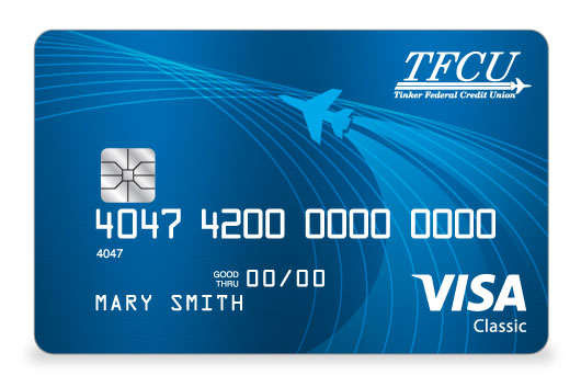 TFCU Signature Credit Card in striking bright blue
