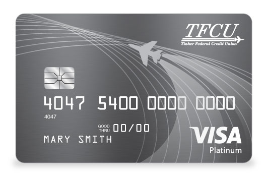TFCU Signature Credit Card in elegant charcoal grey