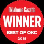 Oklahoma Gazette Winner Best of OKC 2018 logo